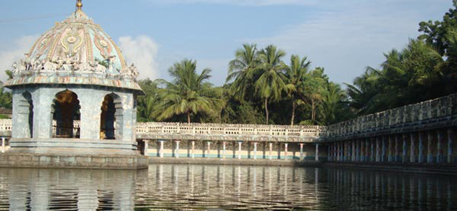 Sacred Lake at a Temple dedicated to the planet Mars, Tamil Nadu